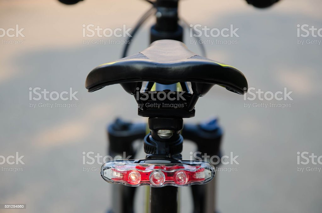 bicycle light tail stock photo