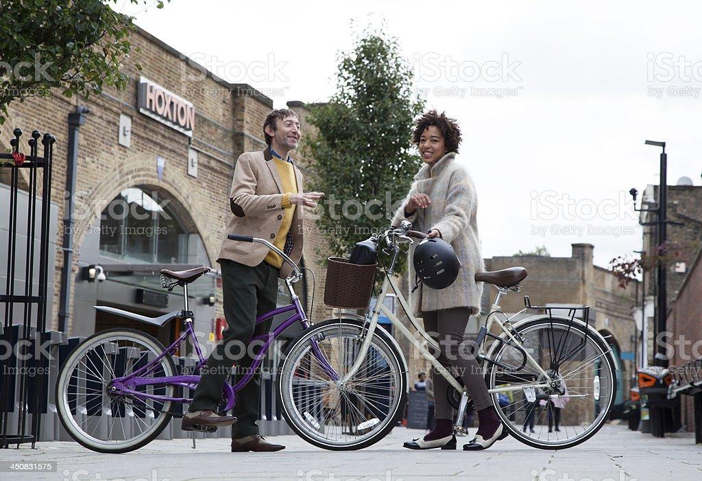 Bicycle Meetup stock photo