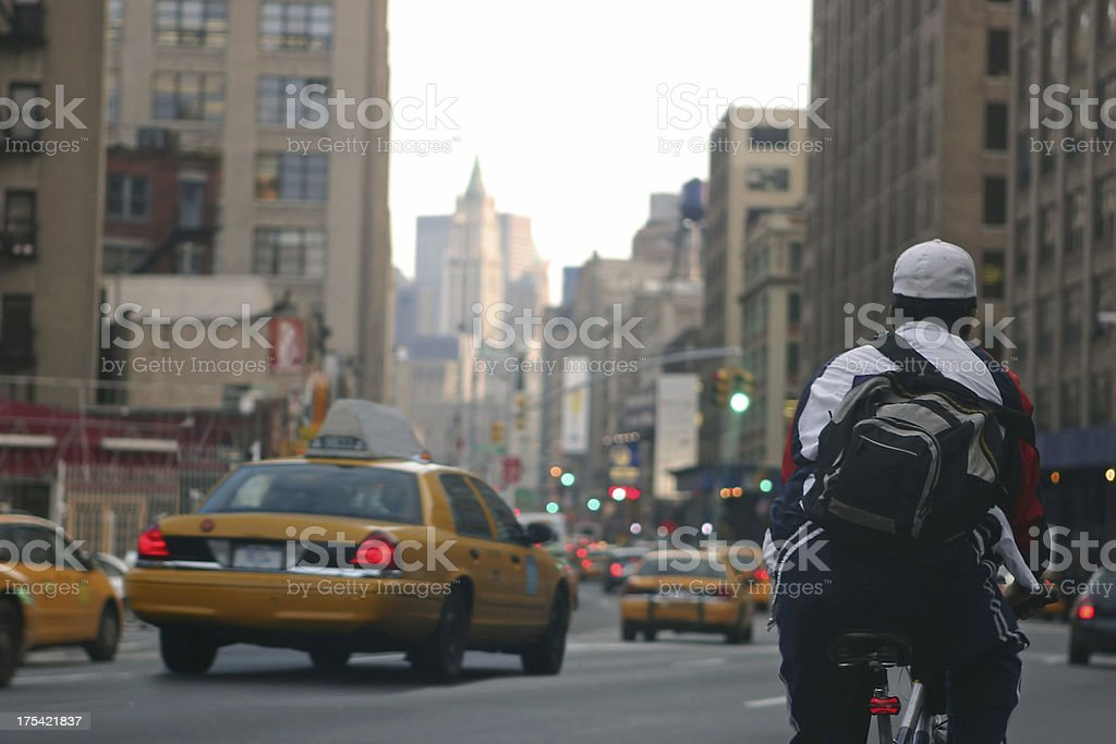 Bicycle Messenger royalty-free stock photo