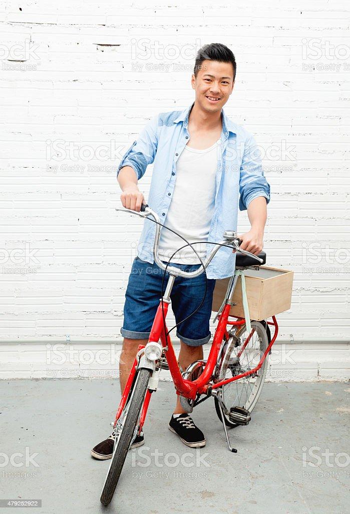 Bicycle Messenger stock photo