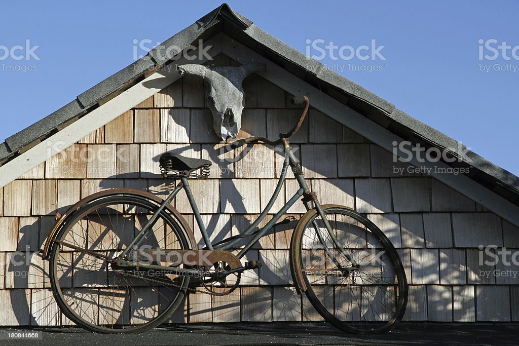 Bicycle on a Roof stock photo