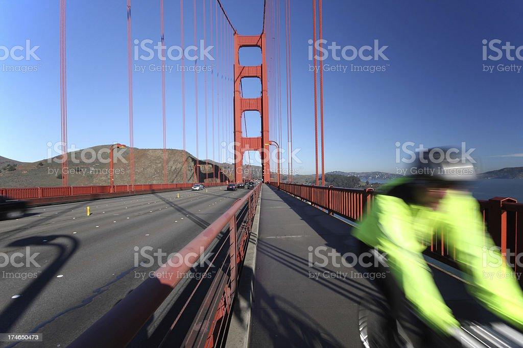 Bicycle on Golden Gate Bridge royalty-free stock photo