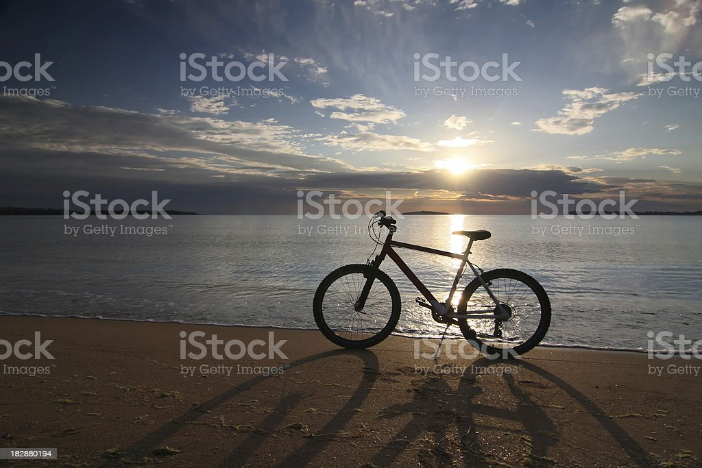 Bicycle on the beach royalty-free stock photo