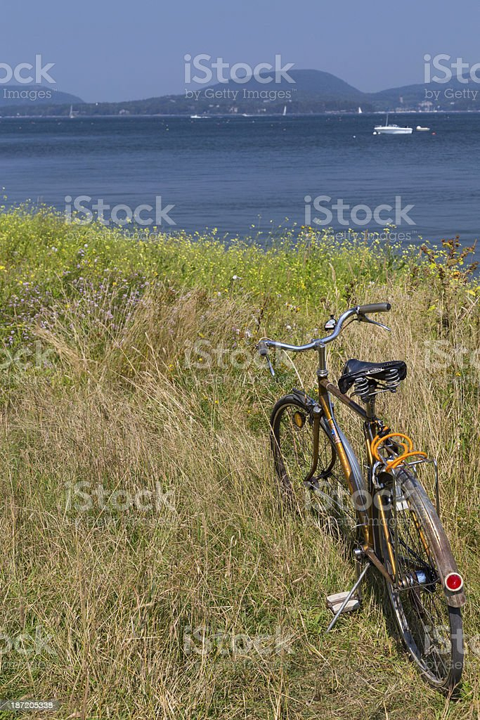 Bicycle on the Coast royalty-free stock photo