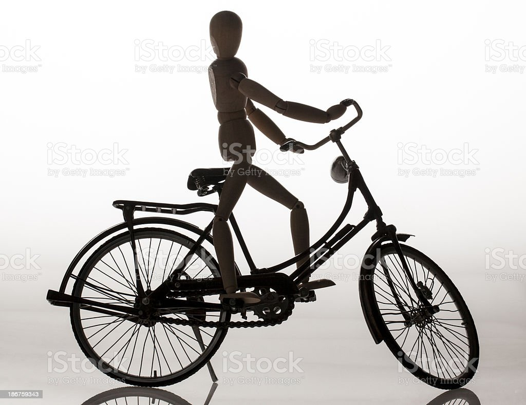 Bicycle on the mannequin royalty-free stock photo
