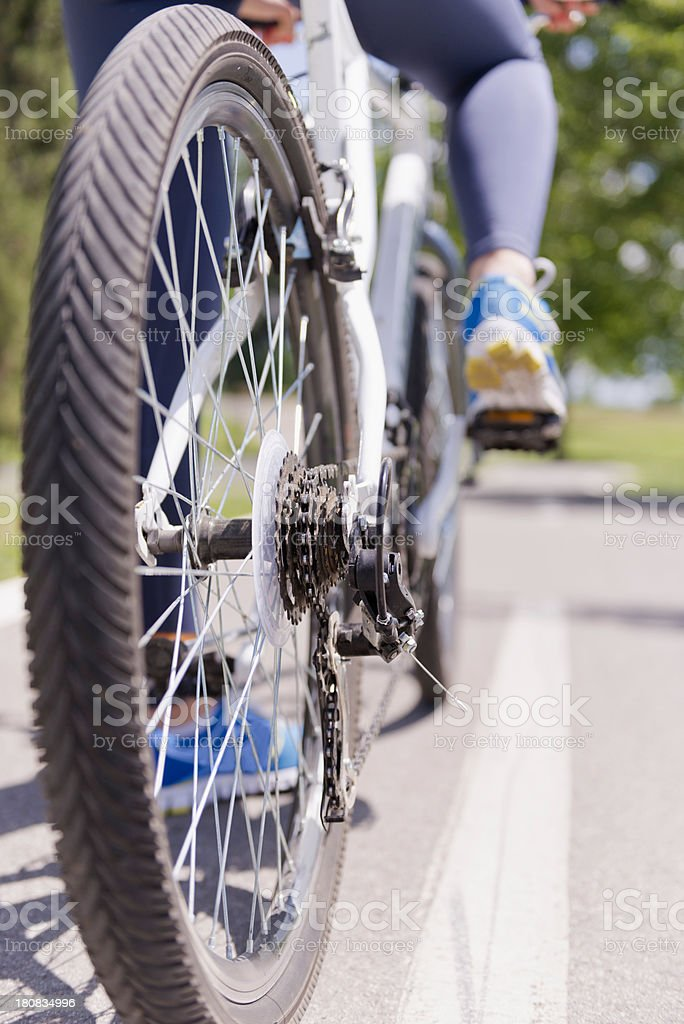 Bicycle on the road royalty-free stock photo