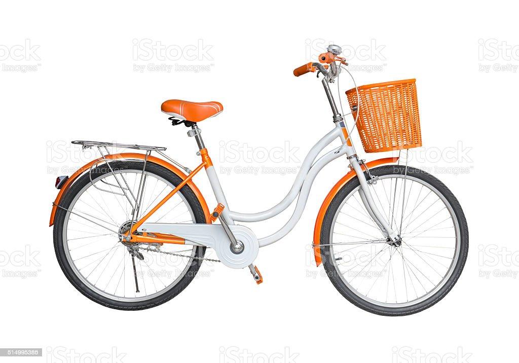 Bicycle on white background stock photo
