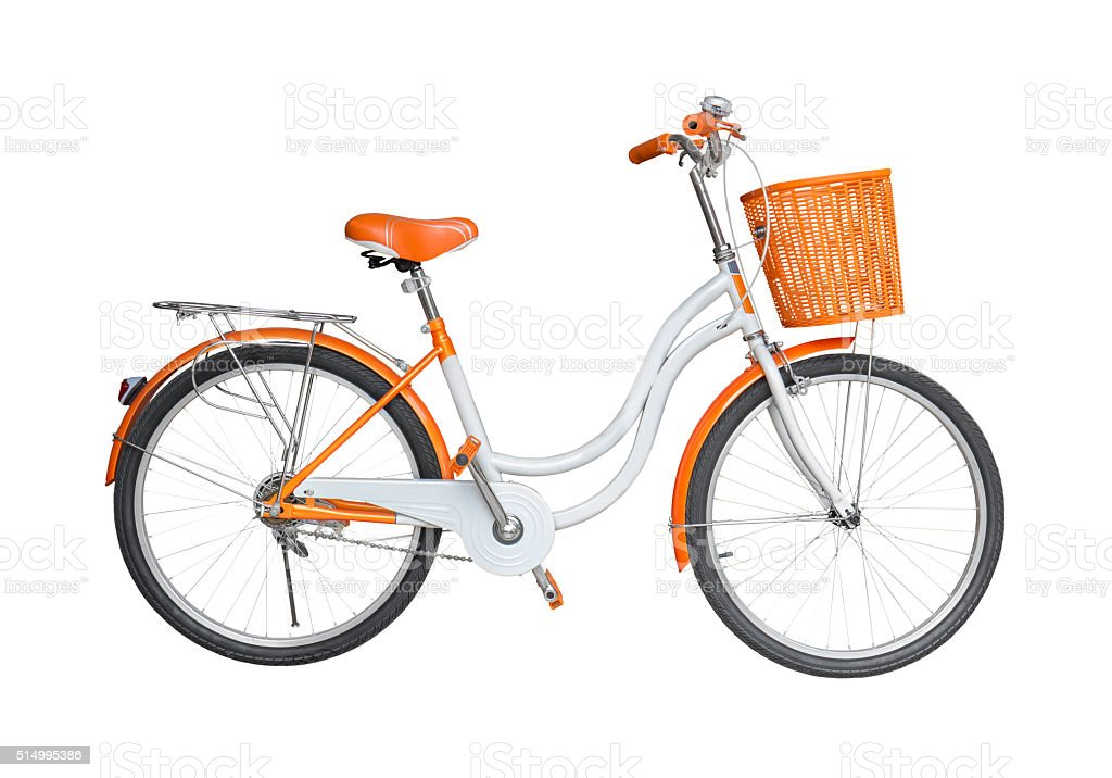 Bicycle on white background stock photo