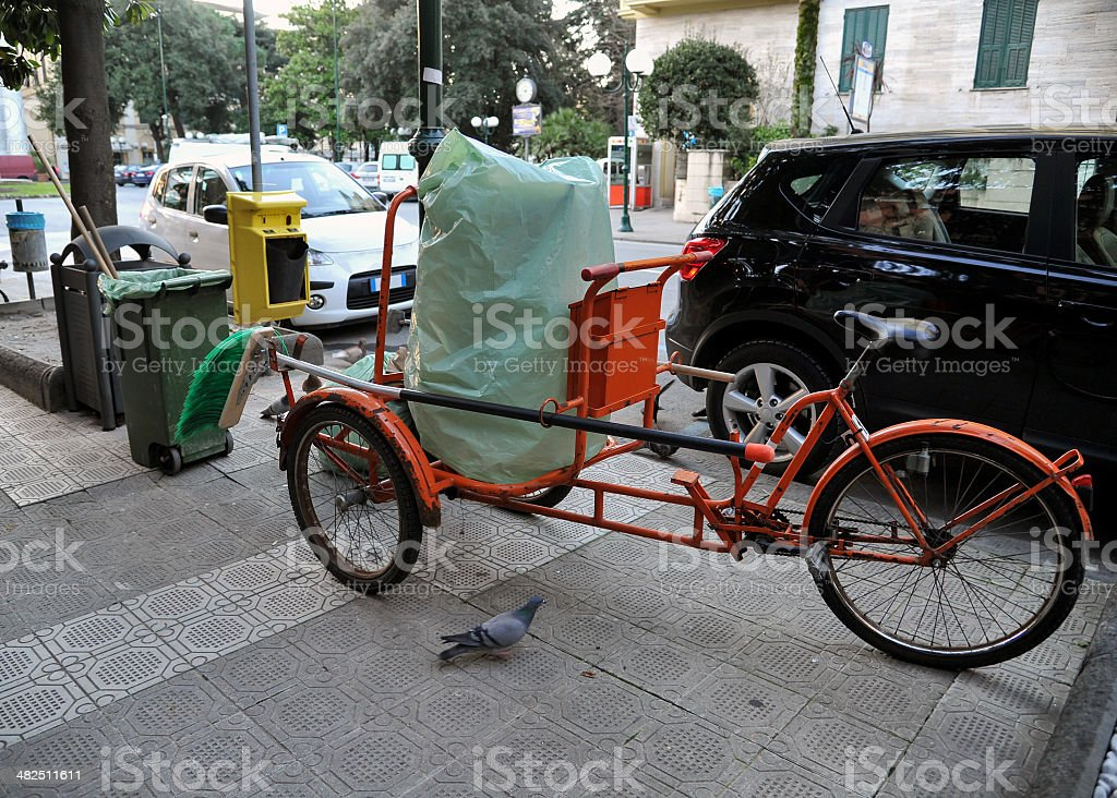 bicycle operator ecological royalty-free stock photo
