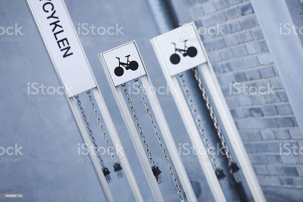 Bicycle parking area royalty-free stock photo