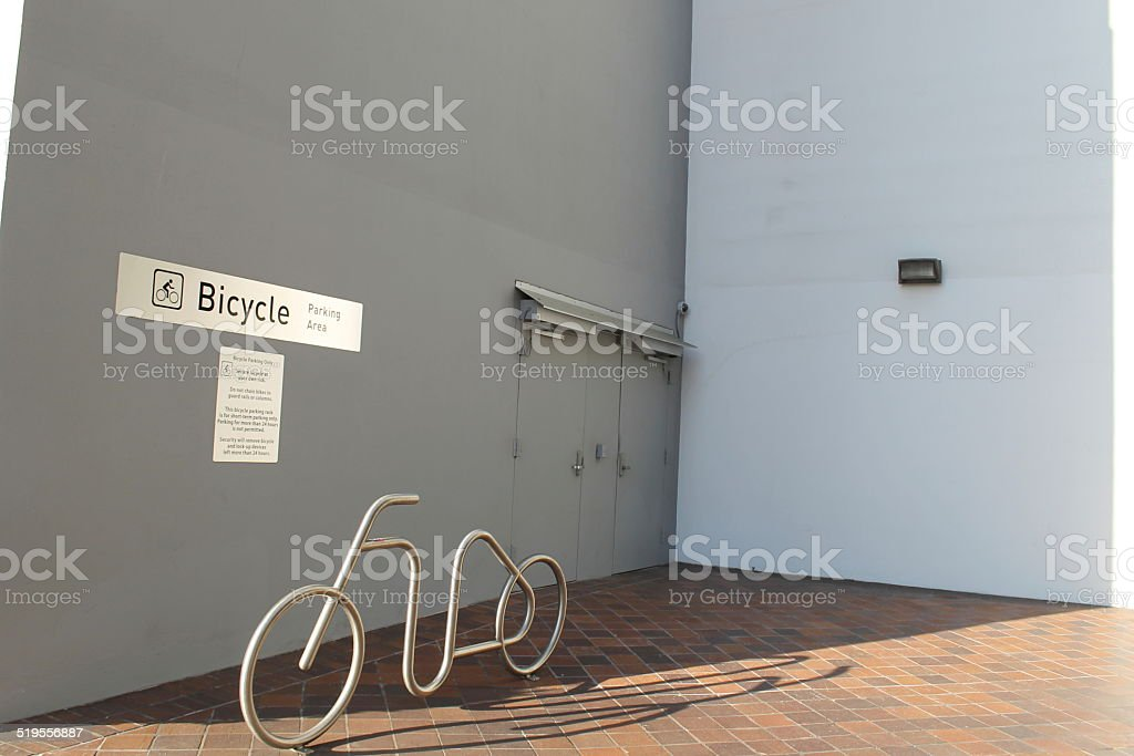 Bicycle Parking Area_WS stock photo