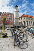 Bicycle parking in the center of Munich