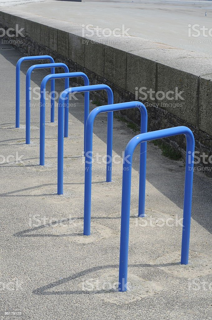 Bicycle parking, Jersey. stock photo