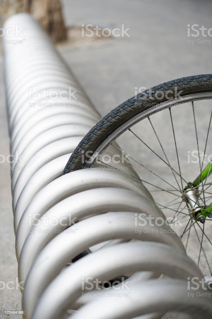 Bicycle Parking Lot royalty-free stock photo