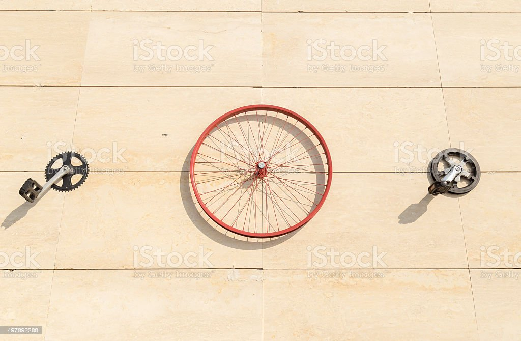 Bicycle Parts stock photo
