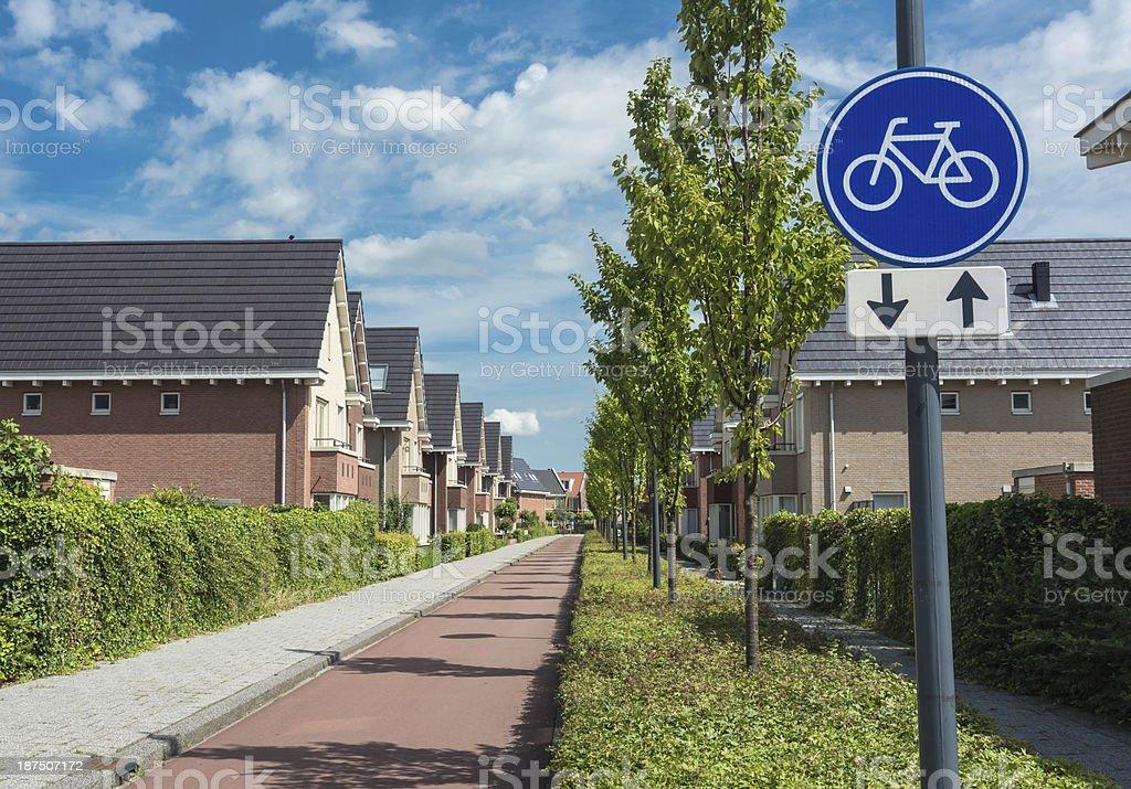 Bicycle Path main road royalty-free stock photo