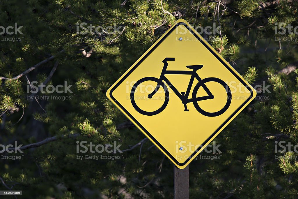 bicycle path only royalty-free stock photo