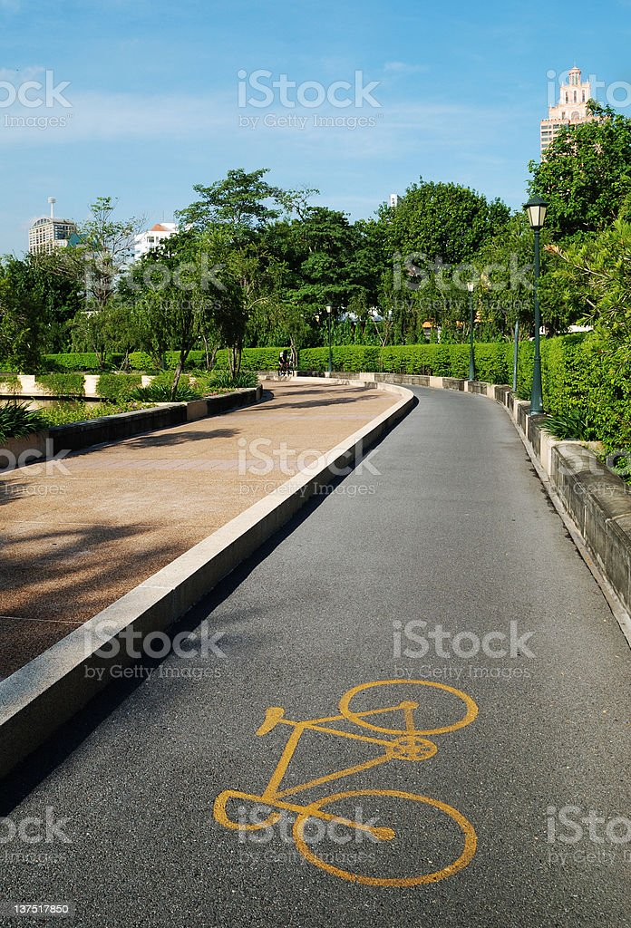 Bicycle path royalty-free stock photo