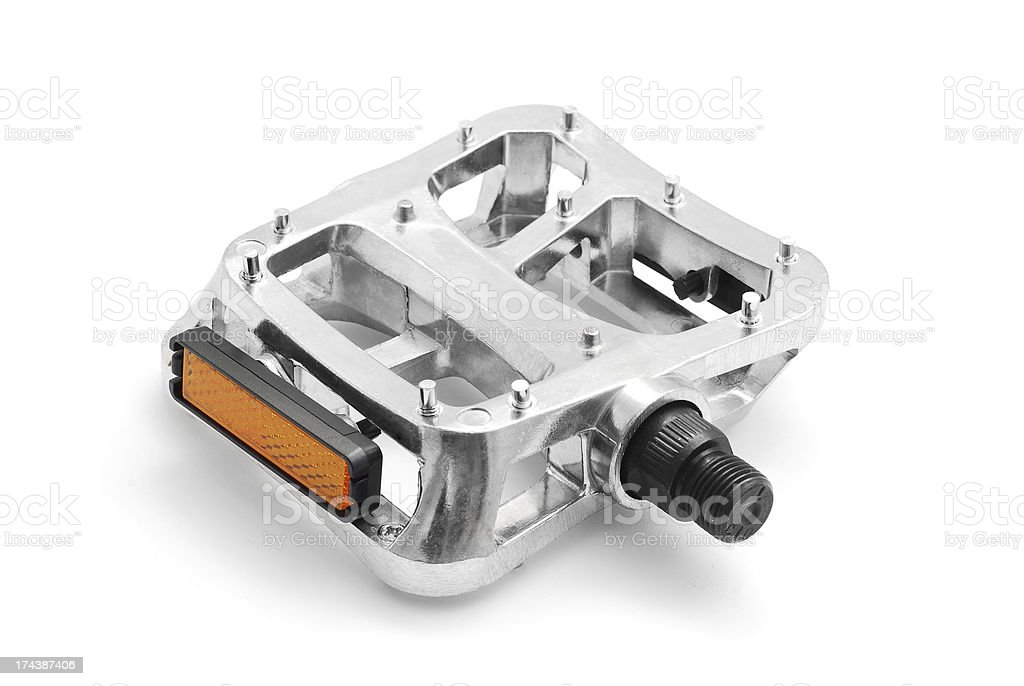 bicycle pedal stock photo