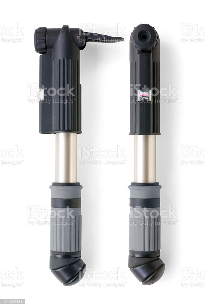 Bicycle pump isolated stock photo