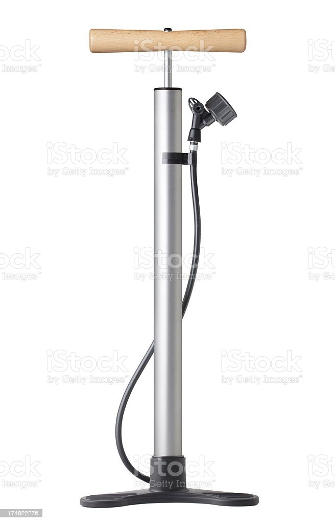 Bicycle pump stock photo