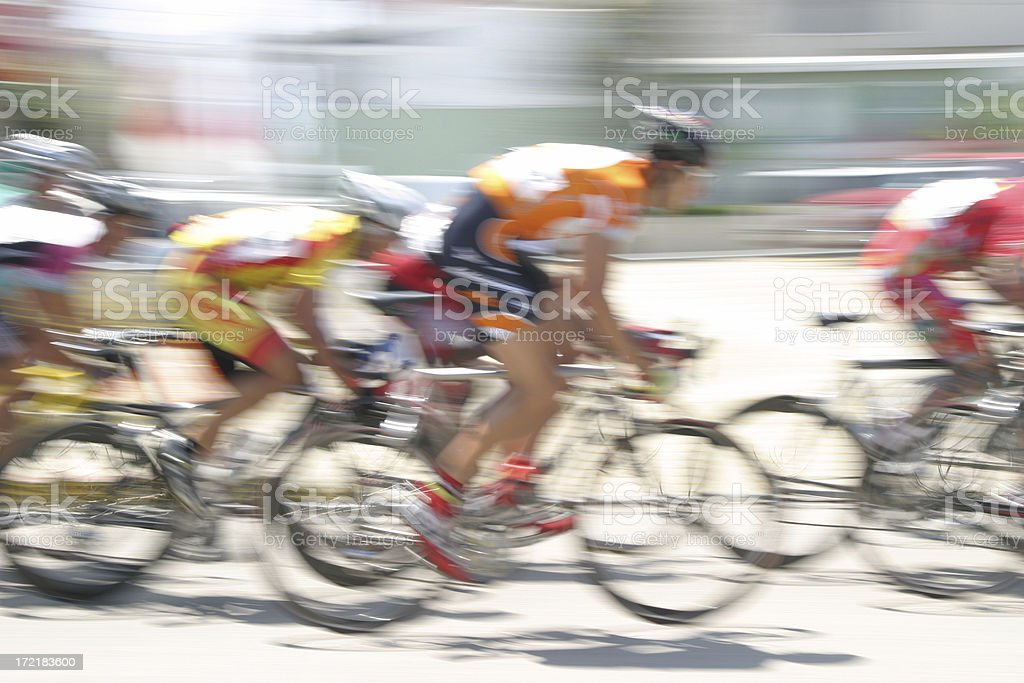 Bicycle Race Blur royalty-free stock photo
