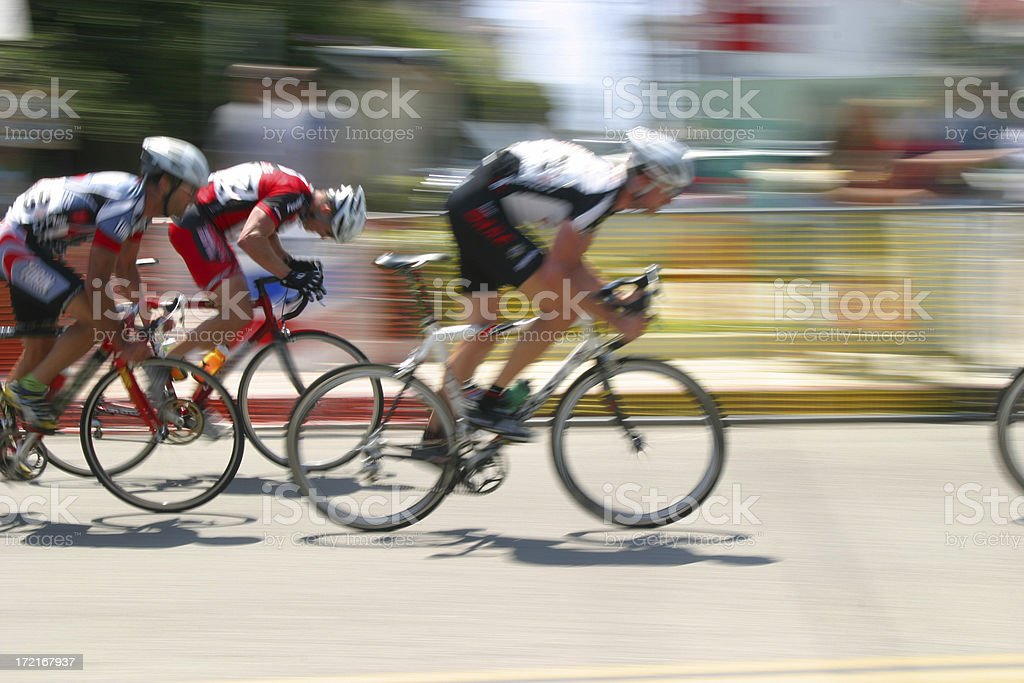 Bicycle Race: Breaking away royalty-free stock photo