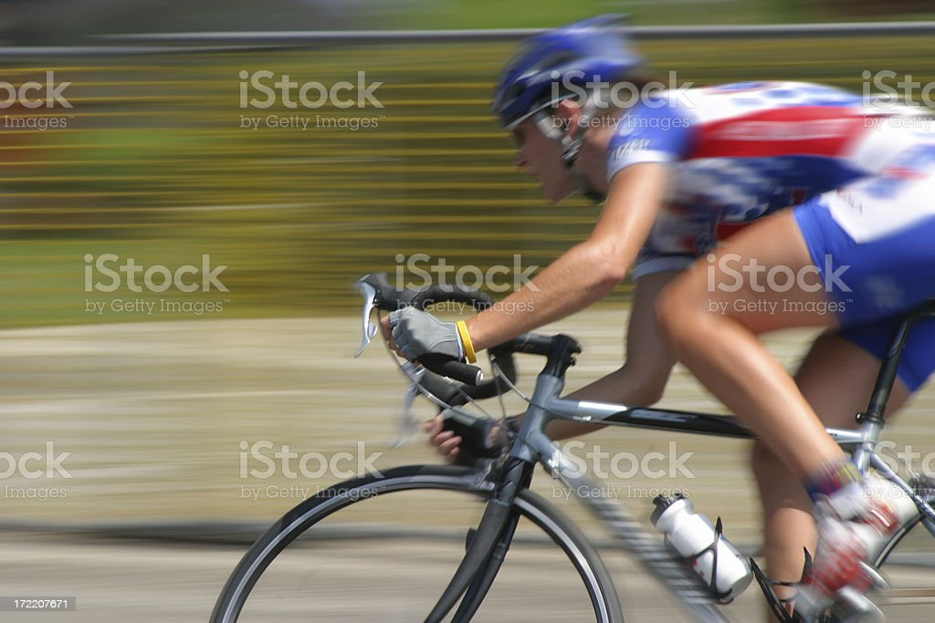 Bicycle Race: Cyclist royalty-free stock photo