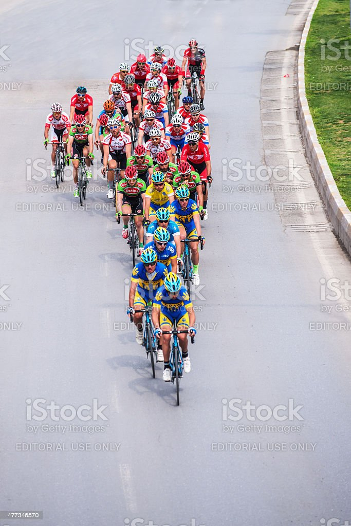 Bicycle Race 'INTERNATIONAL TOUR OF MERSIN ' stock photo
