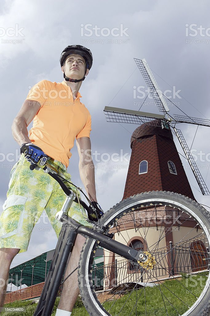bicycle racer royalty-free stock photo