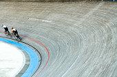 Bicycle Racers Velodrom Speeding