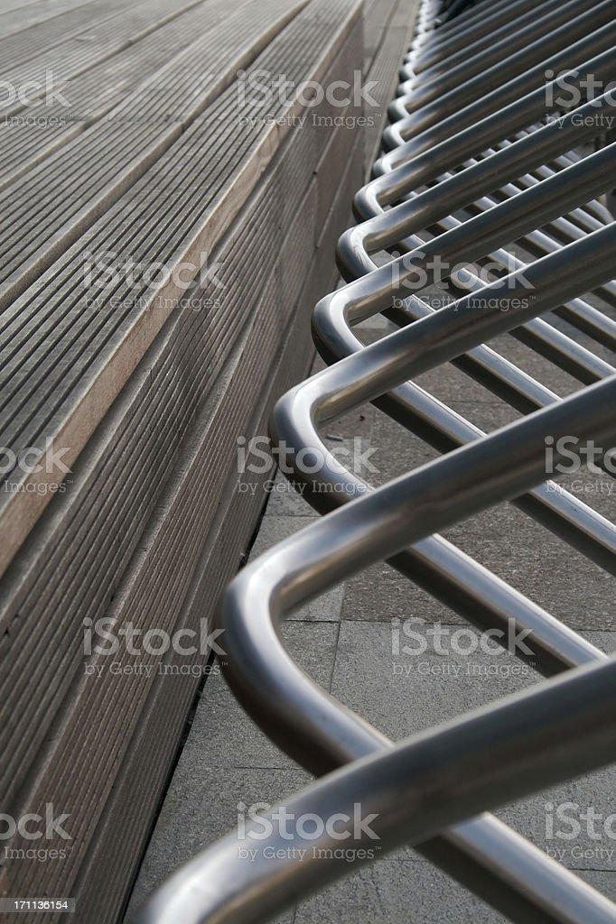 Bicycle Rack royalty-free stock photo