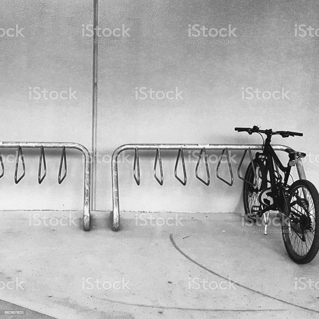 Bicycle Rack. stock photo
