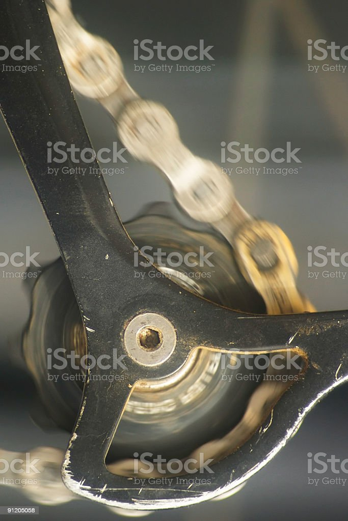 bicycle rear derailleur royalty-free stock photo