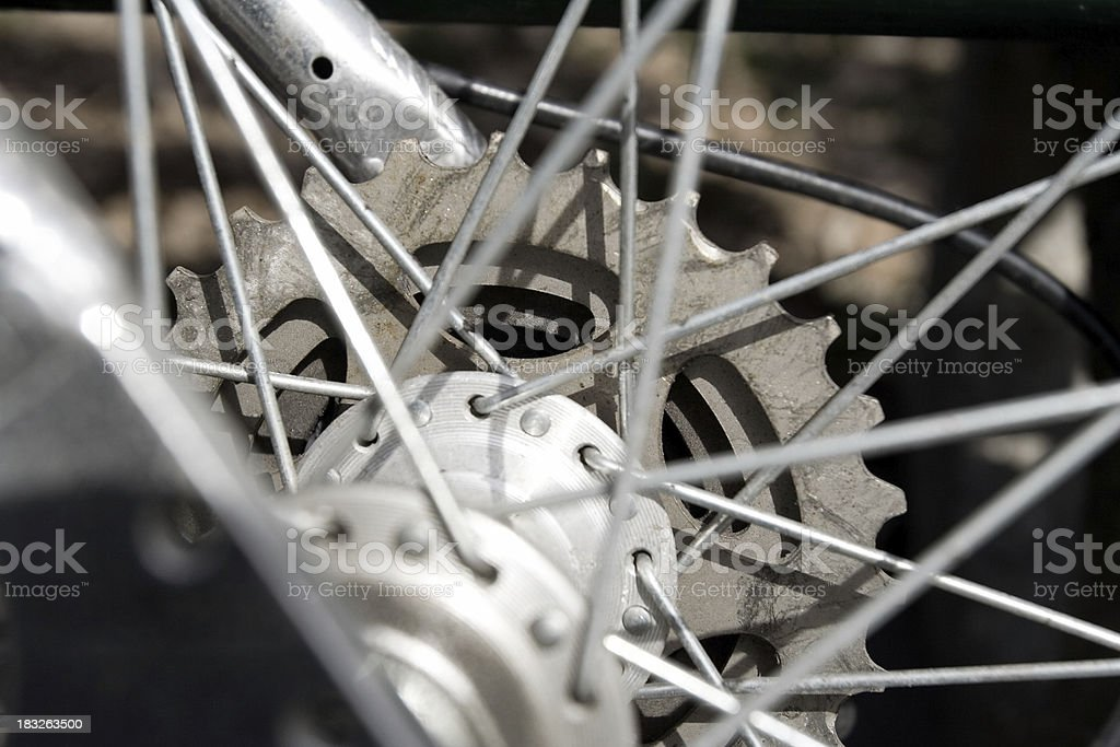 bicycle rear gears royalty-free stock photo