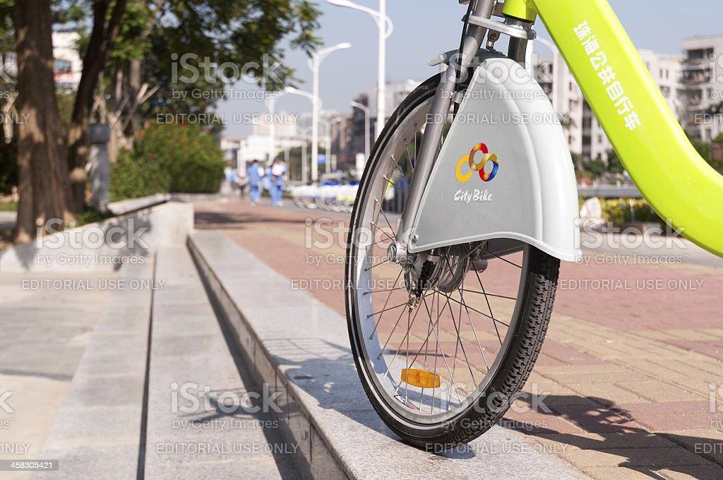 Bicycle Rental in Zhuhai, Guangdong, China. royalty-free stock photo