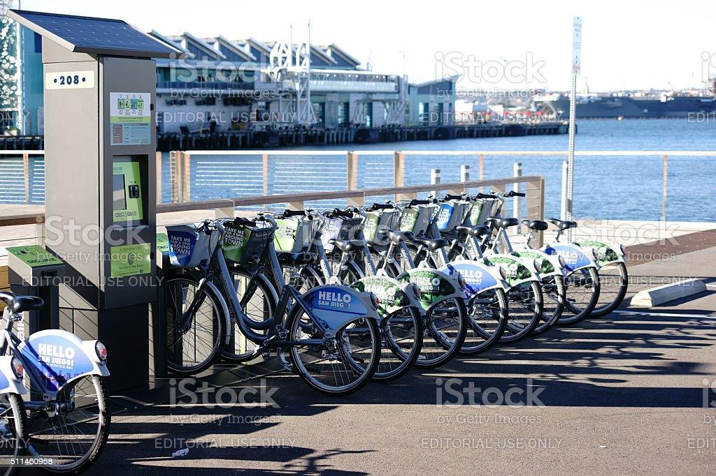 Bicycle Rental San Diego stock photo