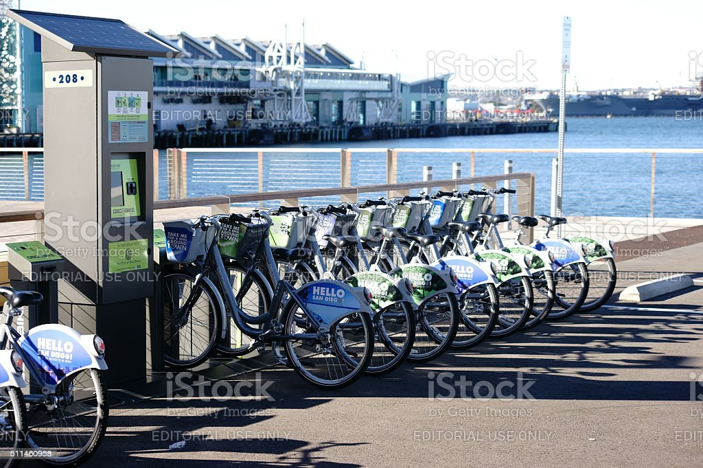 Bicycle Rental San Diego stock photo