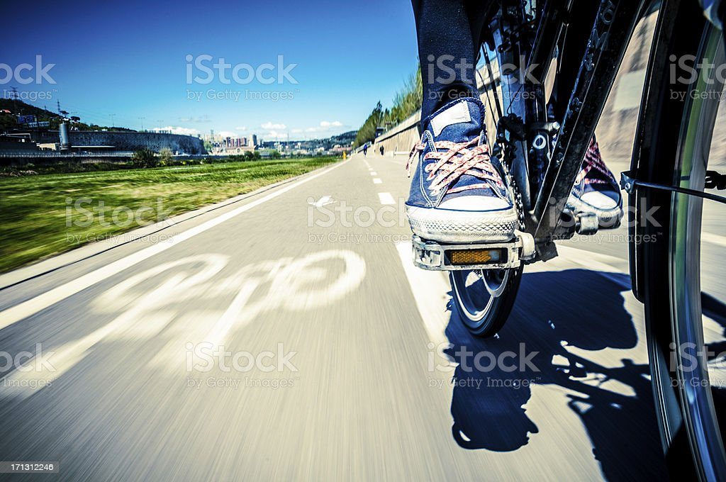 Bicycle Ride to Barcelona stock photo