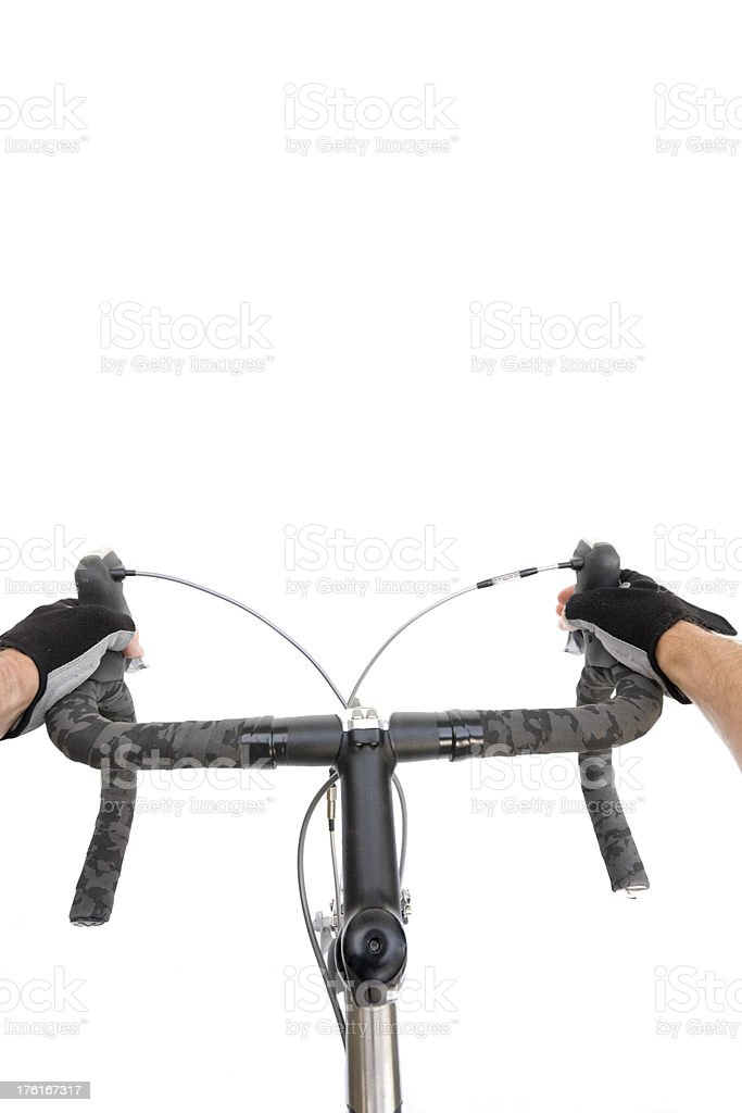 Bicycle Rider Point of View stock photo