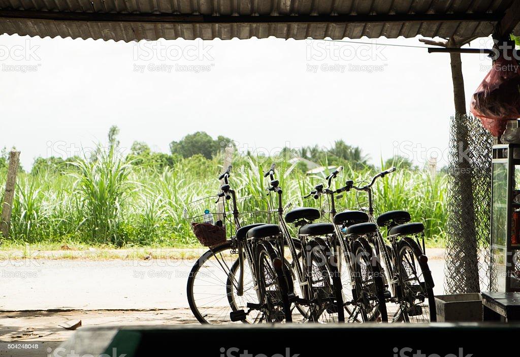 Fahrrad fahren in der Landschaft Lizenzfreies stock-foto