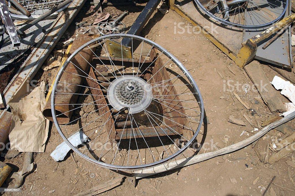 Bicycle rim royalty-free stock photo