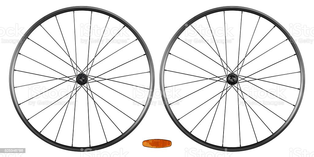 bicycle rims stock photo