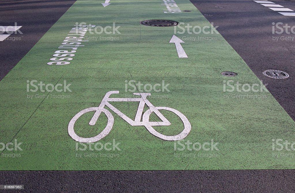 Bicycle road stock photo