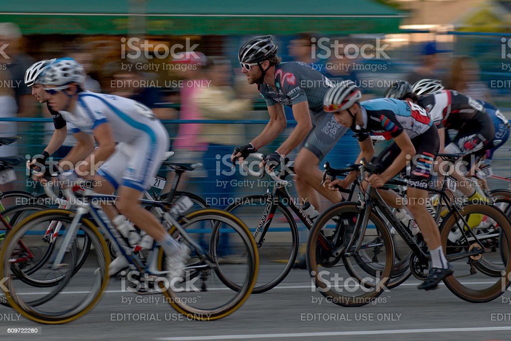 Bicycle road racers stock photo