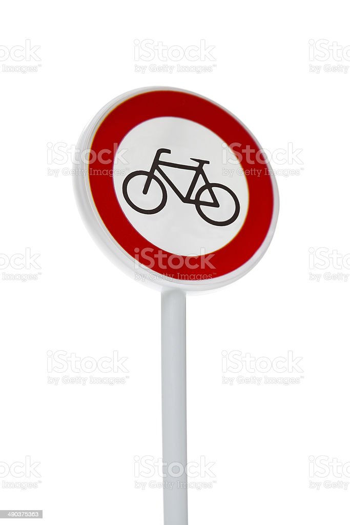 bicycle road sign stock photo