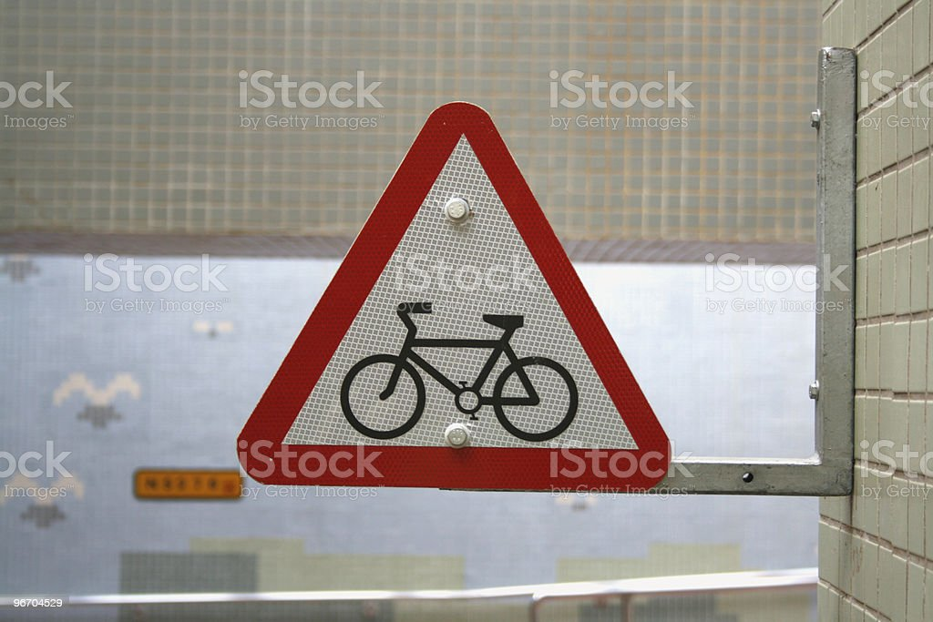 Bicycle Roadsign royalty-free stock photo