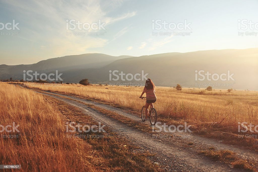 bicycle roadtrip royalty-free stock photo
