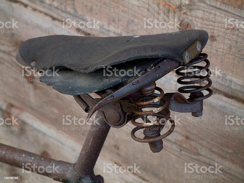 Bicycle saddle royalty-free stock photo