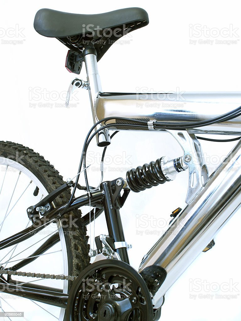 Bicycle Seat and Suspension royalty-free stock photo